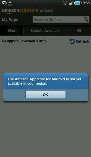 android app store wont download